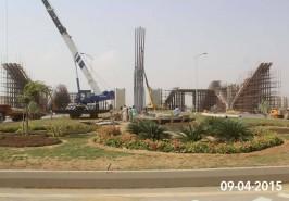 Bahria Town Karachi Amazing Gate House Under Construction
