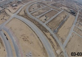 Bahria Town Karachi Development View of Overseas Block from Height March 2015