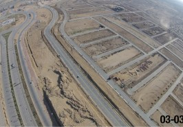 Bahria Town Overseas Block Karachi Development View from Height