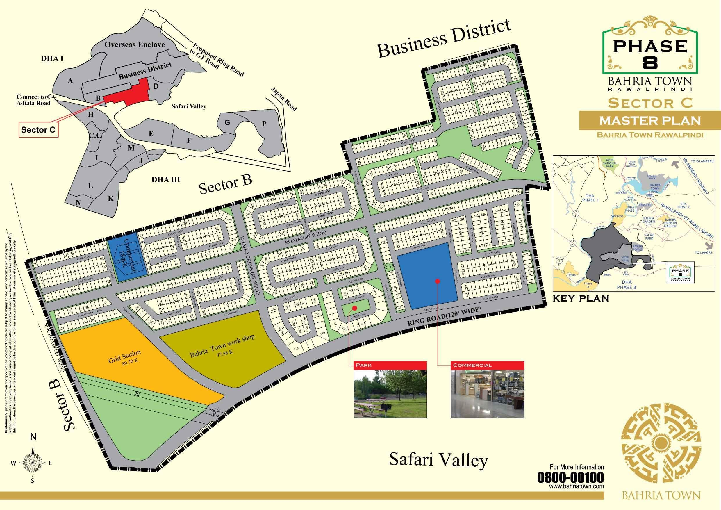 Bahria Town Rawalpindi and Islamabad Maps - Manahil Estate on