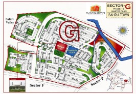 Bahria Town Phase 8 Sector G Map
