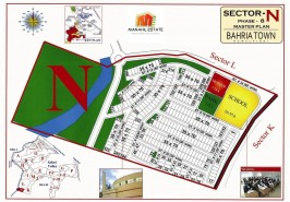 Bahria Town Phase 8 Sector N Map