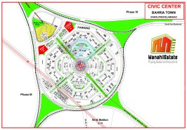 Civic Center Commercial Bahria Town Rawalpindi Map