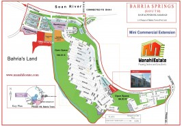 Spring South Mini Commercial Extension Bahria Town Rawalpindi Map