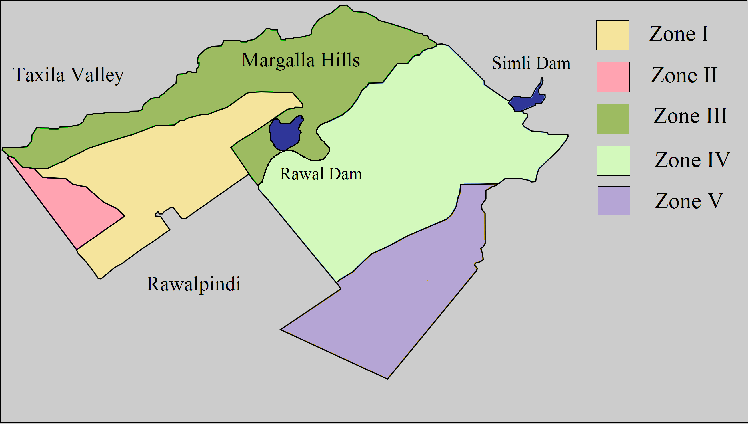 Layout maps of islamabad sectors and societies manahil for Zone plan