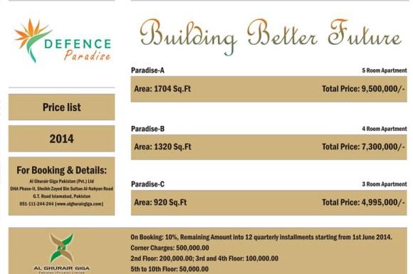 Defence Paradise Price List