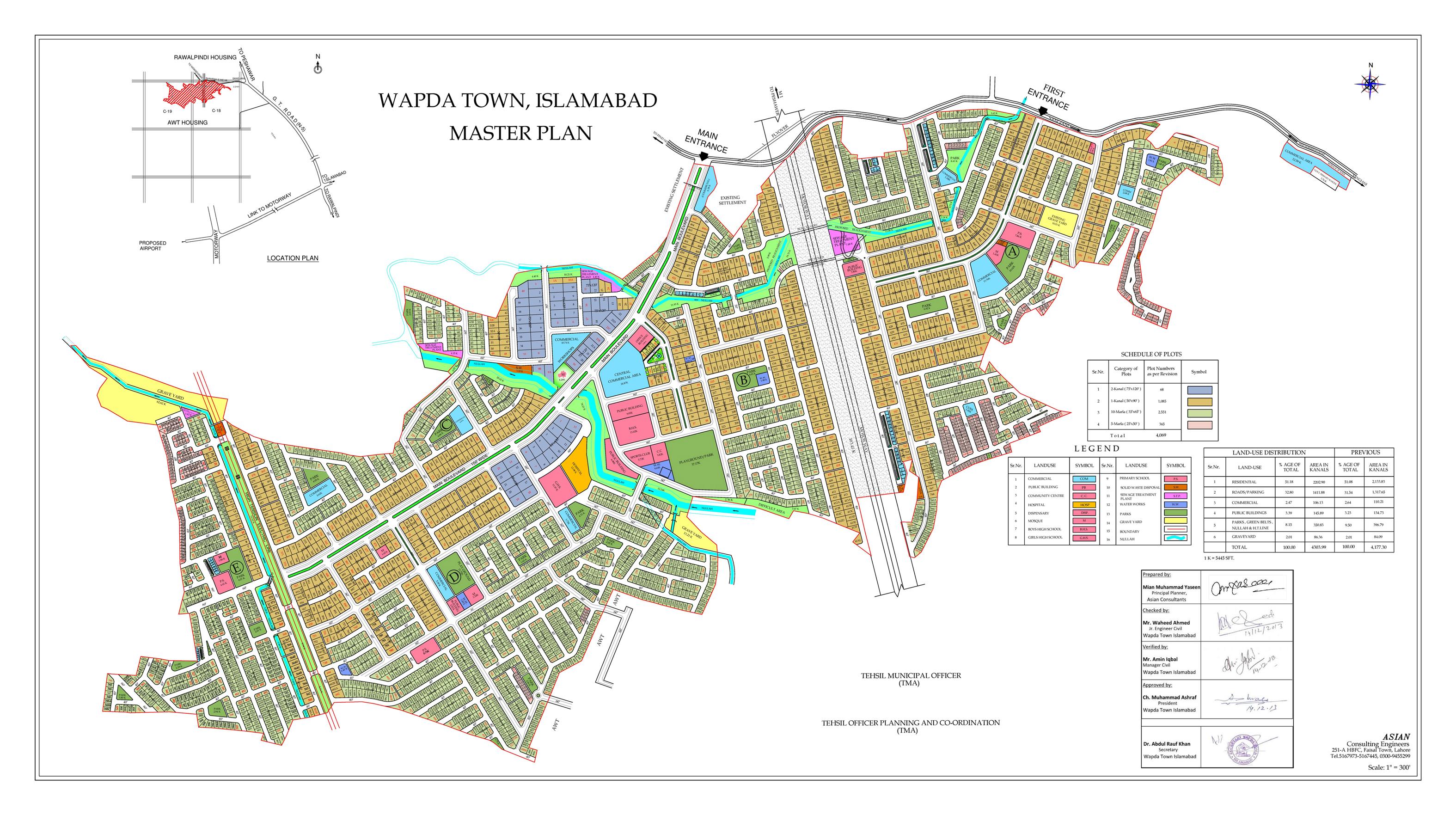 Wapda City Society Map