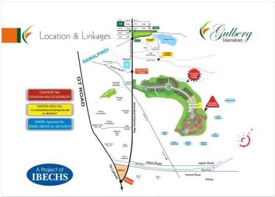 Gulberg-Islamabad-Location-Map