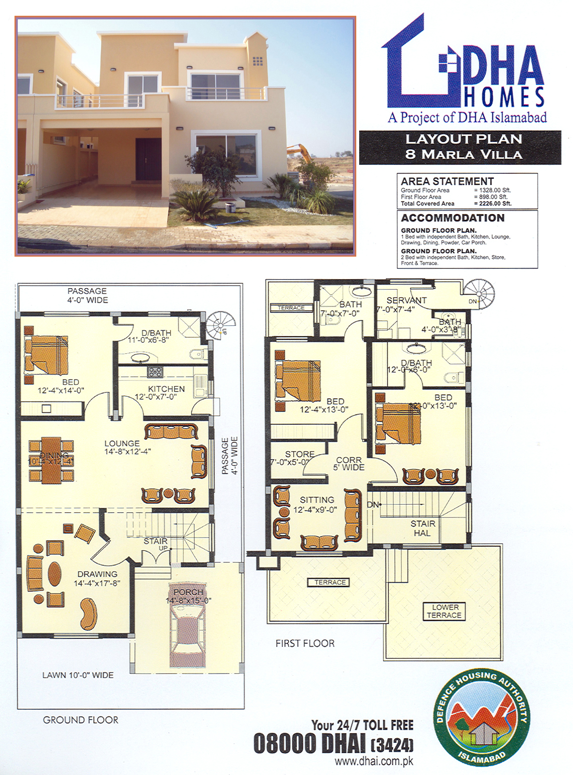 Dha homes islamabad location layout floor plan and prices Construction cost of 5 marla house