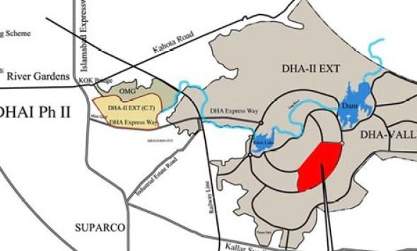 DHA Homes Location Plan