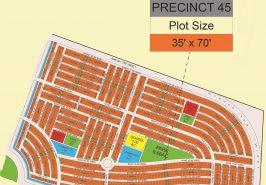 Bahria Sports City Karachi Precinct 45 Map
