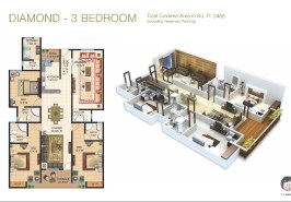 Galleria Diamond 3 Bedroom Layout Plan