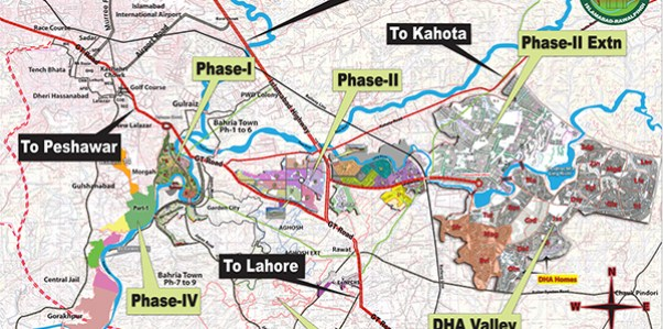 DHA Phase 2 Extension Islamabad Location