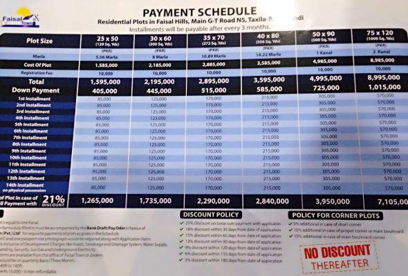 Faisal Hills Payment Plan