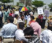 DHA City Lahore Protest5