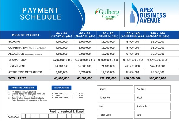 Apex-Business-Avenue-Payment-Schedule