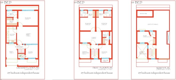 City Meadows Layout Plan Single Unit 5 Bed Houses