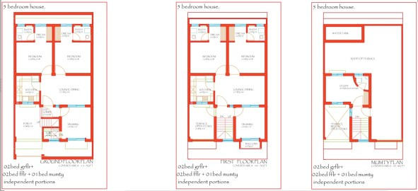 City Meadows Layout Plan Double Unit 5 Bed Houses