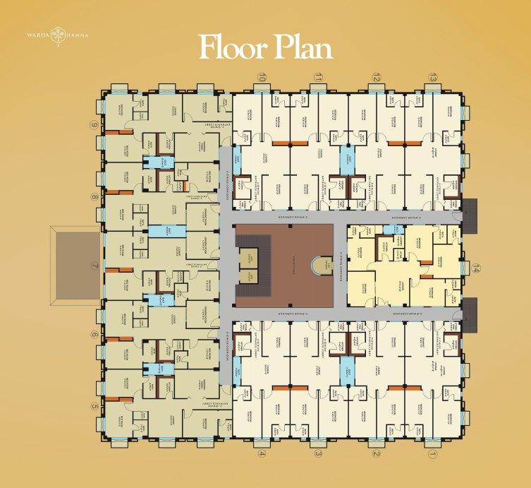 Warda Hamna Residencia 3 Floor Plan