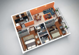 Two Bed Layout Plan