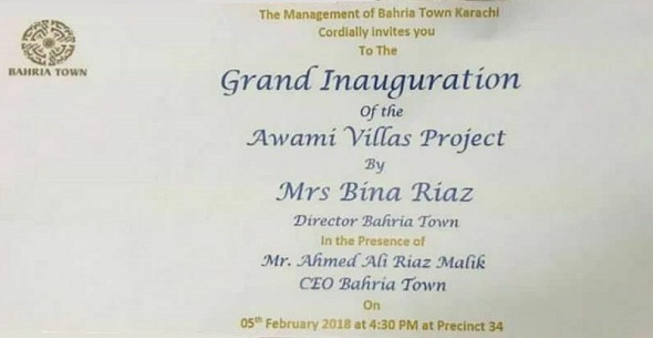 Awami Apartments Bahria Town Karachi Inauguration