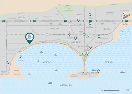 Blue Ocean Residency Map