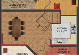 5M Floor Plan B Spanish GF