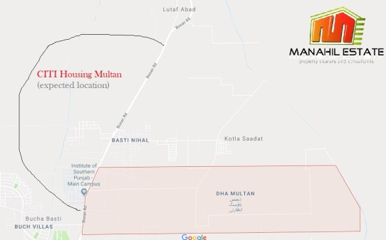 CITI Housing Multan - Project Details, Location Map and Prices ... on