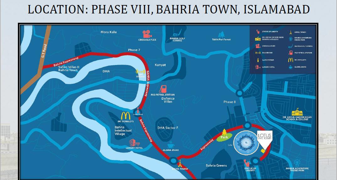 Lotus Lake Towers Location map