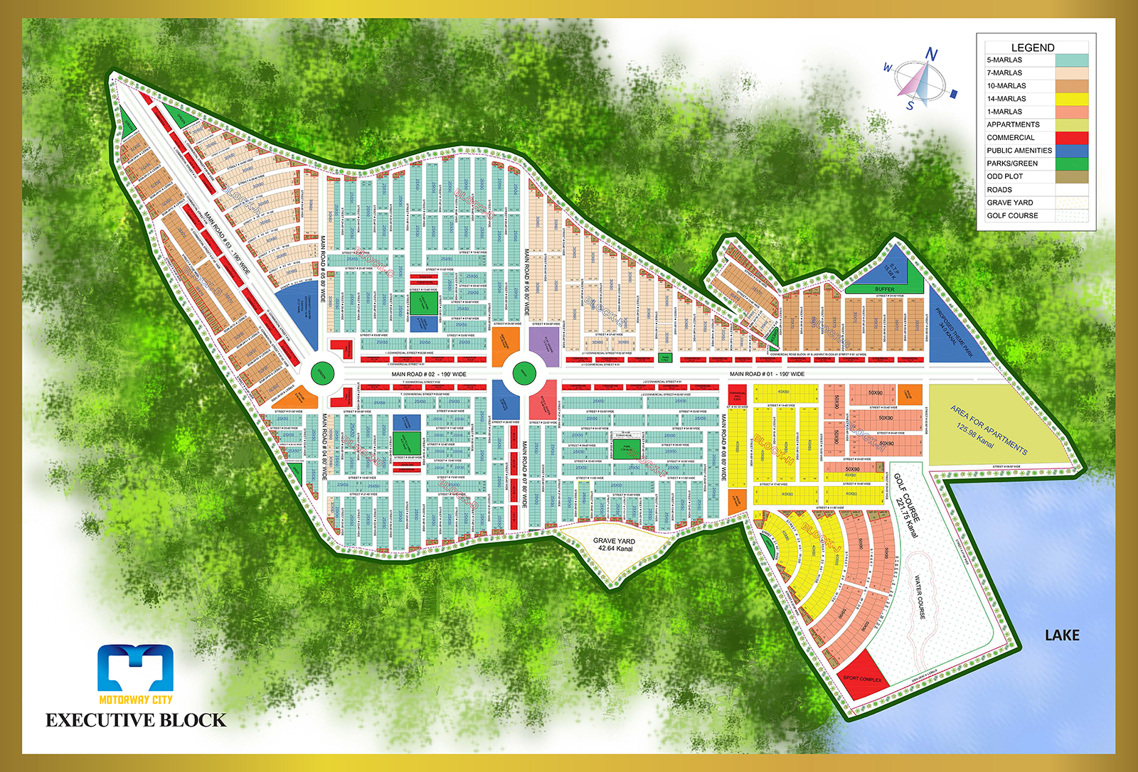 Motorway City Executive Block Map