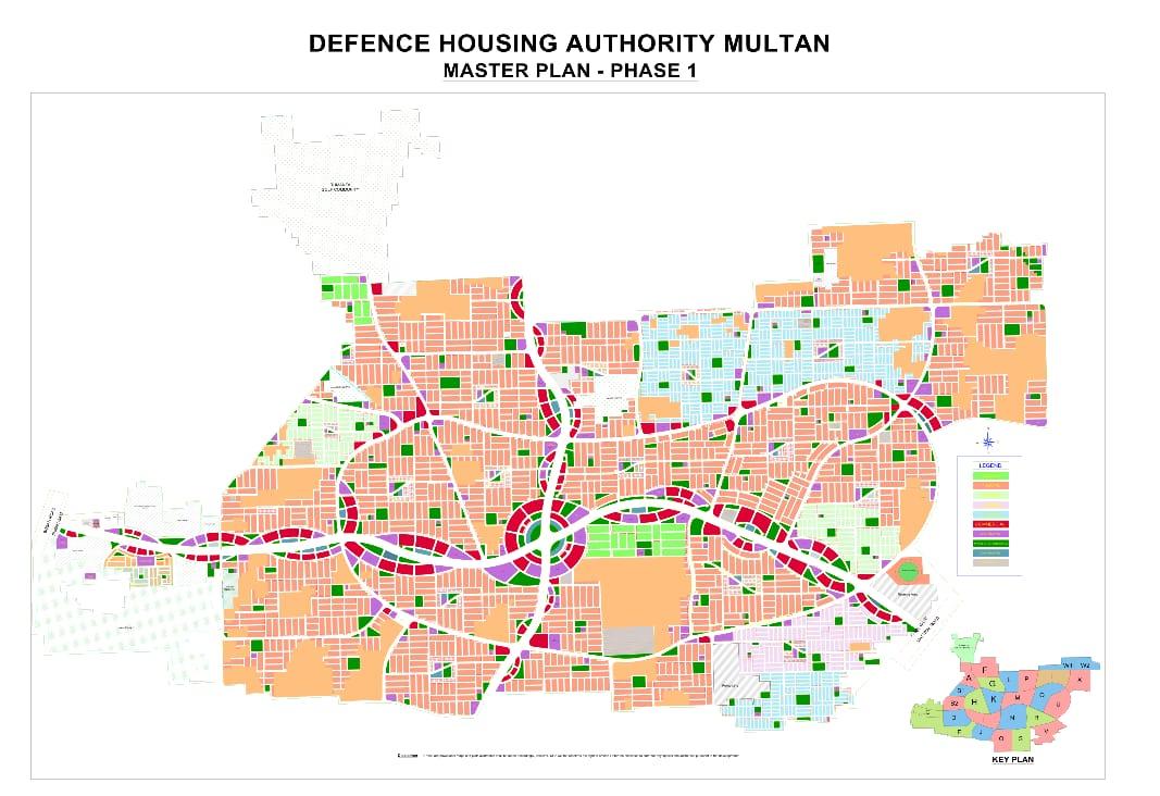 DHA Multan Phase 1 Master Plan