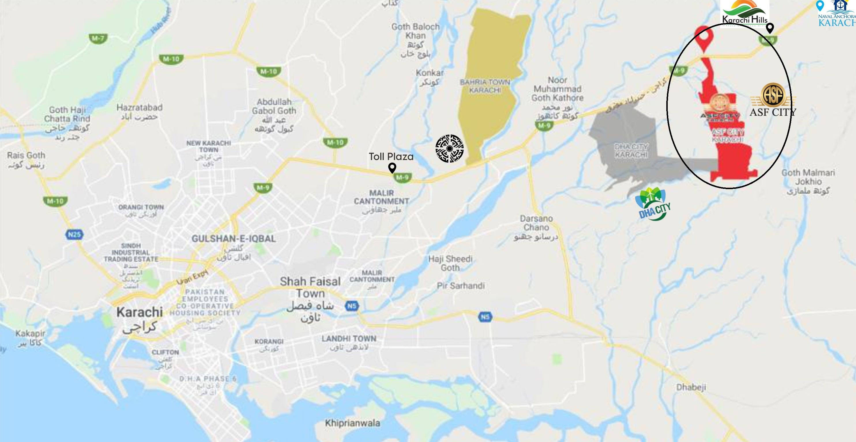 ASF City Karachi Location Map