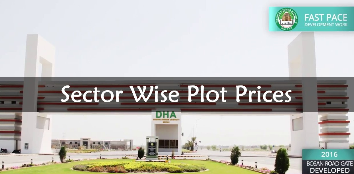 DHA Multan Sector Wise Plot Prices