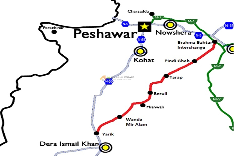 Hakla DI Khan Motorway Route