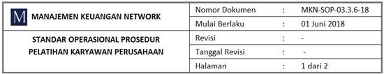 Contoh SOP Pelatihan Karyawan Perusahaan - Header.1