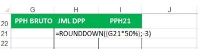 Menghitung jumlah DPP