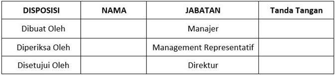 SOP Laporan Risk Management - Pengesahan