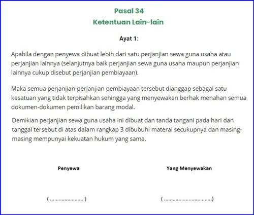 34 Poin Contoh Surat Perjanjian Kerjasama Bisnis Clear