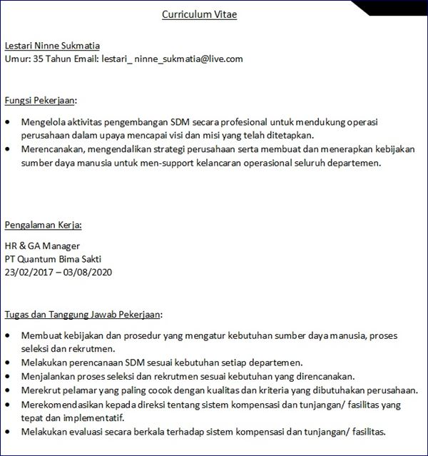 download format cv kosong pdf