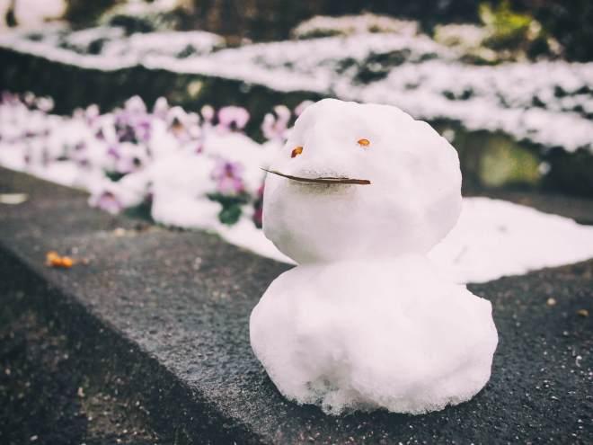ちょっと不細工な雪だるま