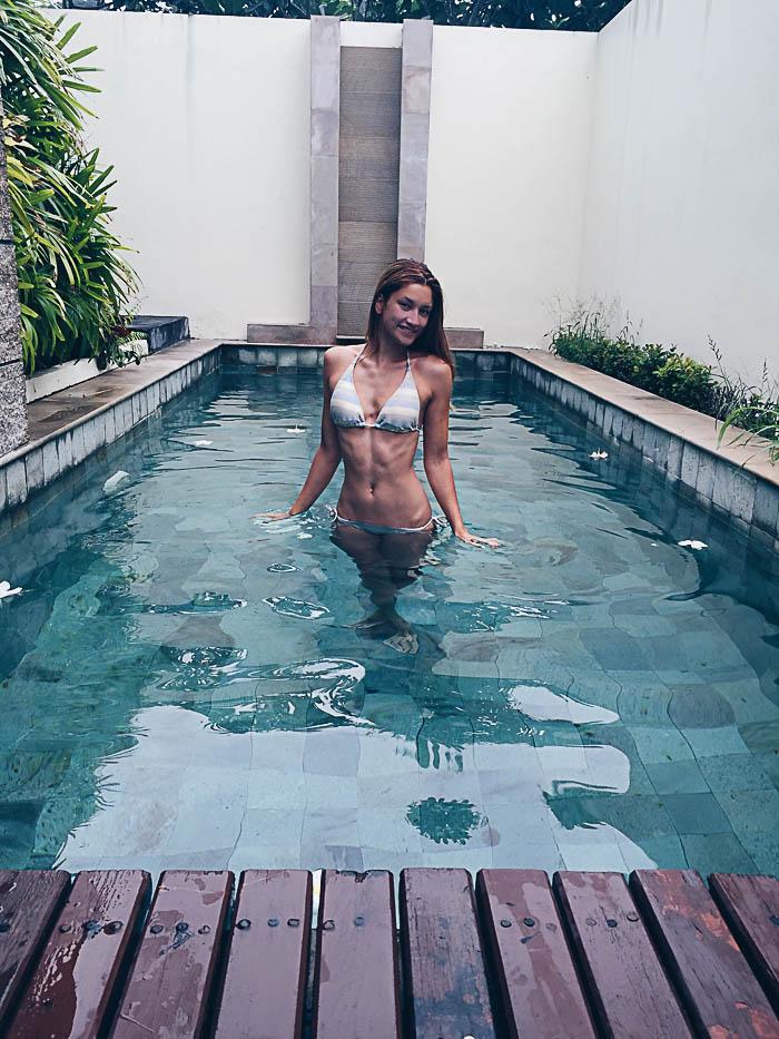 girl in pool krabi