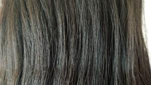タングルティーザー使用前の髪