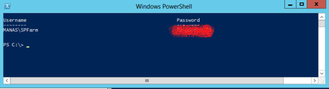Get SharePoint Managed Account Password