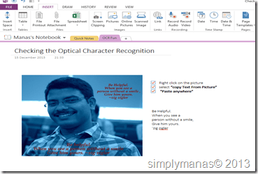 #3 MS-Office Gyan for the day: OCR in OneNote (5/6)