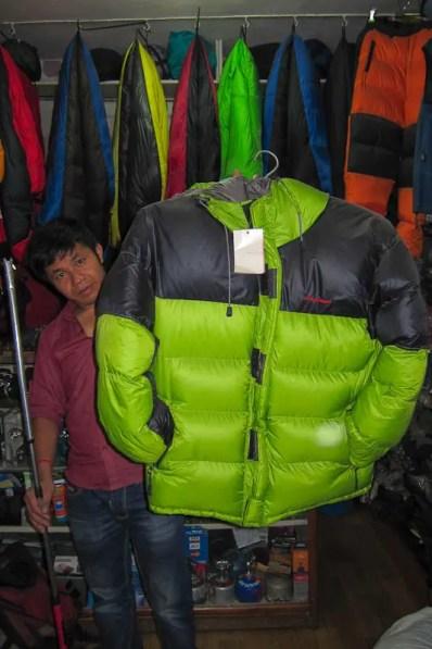 Chunky down jacket, box construction $75