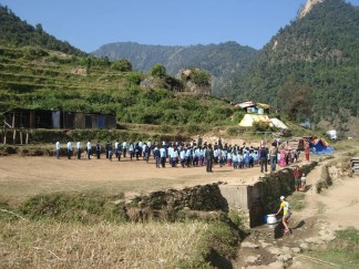 Lapu village school, Gorkha
