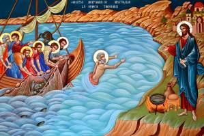 Hristos la Marea Tiberiadei