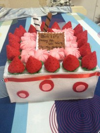 Gift from the students - a hand-made cake, of the non-edible variety. So cute!