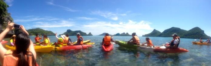 Kayaking in the marine preserve