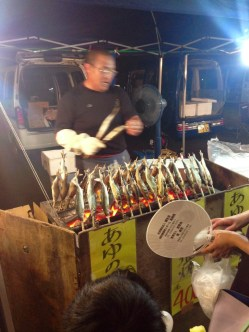 Fish on a stick! I decided against this particular festival food...